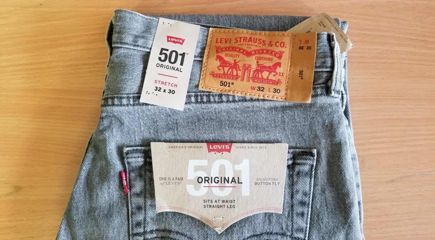 Levis Mens 501 Original Fit Jean Dirienzo Stretch
